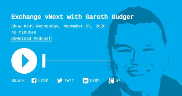 Gareth on RunAs Radio Episode 745 Exchange vNext