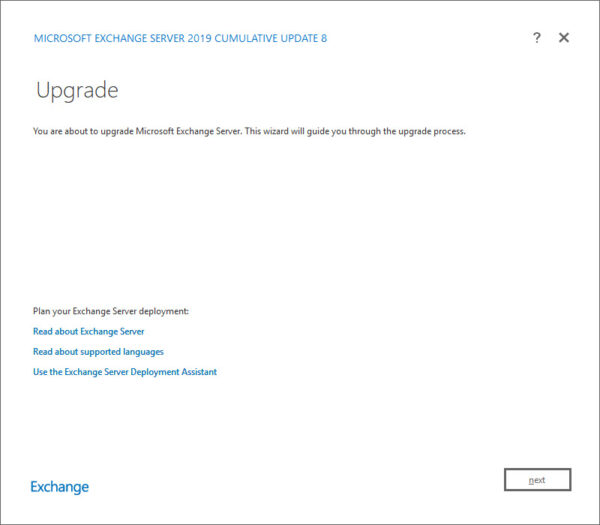 Exchange 2019 Cumulative Update 8