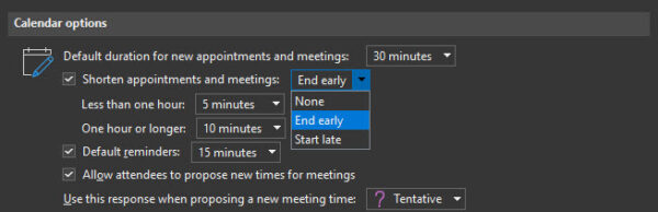 Start Meetings Late in Microsoft Outlook