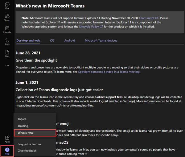 Microsoft Teams What's New